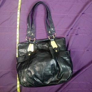 b. makowsky Bags - B. Makowsky Reptile Embossed Leather Bag Large